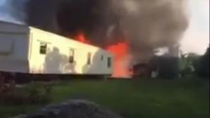 Un avion de mici dimensiuni s-a prăbuşit într-un parc de rulote la Palm Beach, în Florida