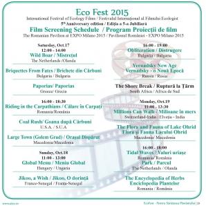 Festivalul Internațional al Filmului Ecologist Eco Fest începe sâmbătă, la Milano