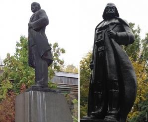 FOTO. Lenin, Lodul Intunericului? Iată ce s-a întâmplat peste noapte cu o statuie din Odessa