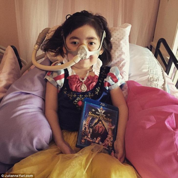 """""""Alegi Raiul sau spitalul?"""" -Răspunsul impresionant al unei fetiţe care suferă de o boală incurabilă"""