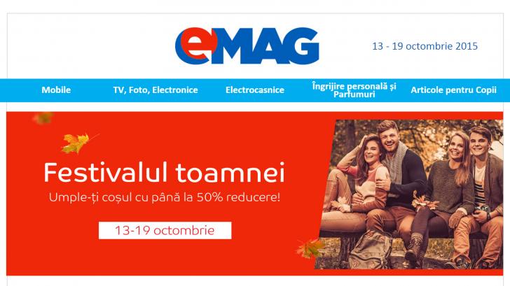 eMAG.ro – Festivalul toamnei – Cele mai bune promoții ale săptămânii aduc 50% discount