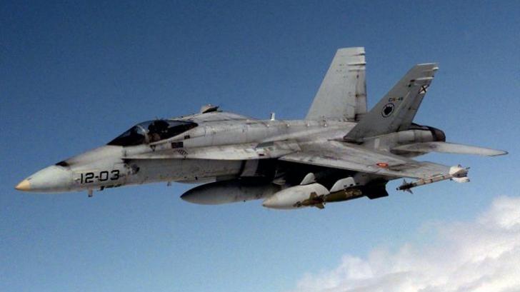 Avion american de vânătoare F-18, prăbuşit în Marea Britanie. Pilotul a murit