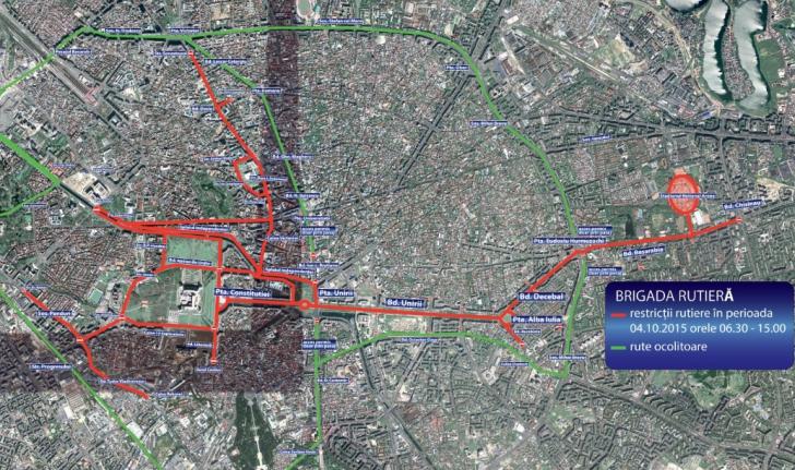 Trafic restricţionat în Bucureşti din cauza Maratonului Internaţional. Harta străzilor închise