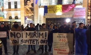 Protest in centrul Timisoarei/ Foto: Tion.ro