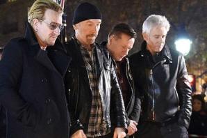 <p>U2, omagiu pentru victime</p>