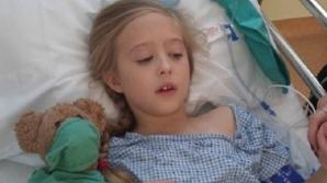 O fetiţă de 8 ani a fost diagnosticată cu cancer la sân