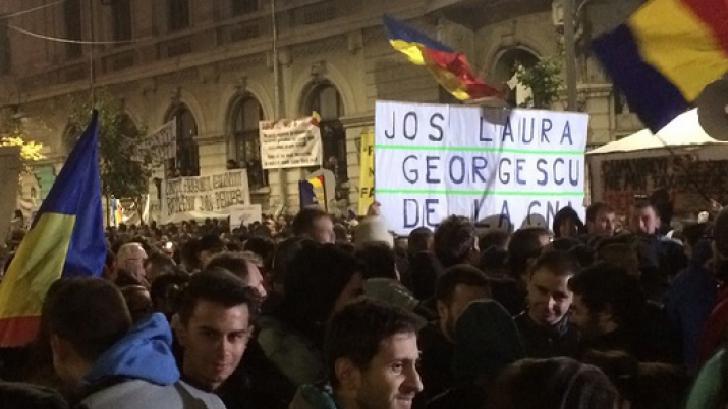 Pe pereţii CNA au apărut afişe prin care se cere demisia Laurei Georgescu