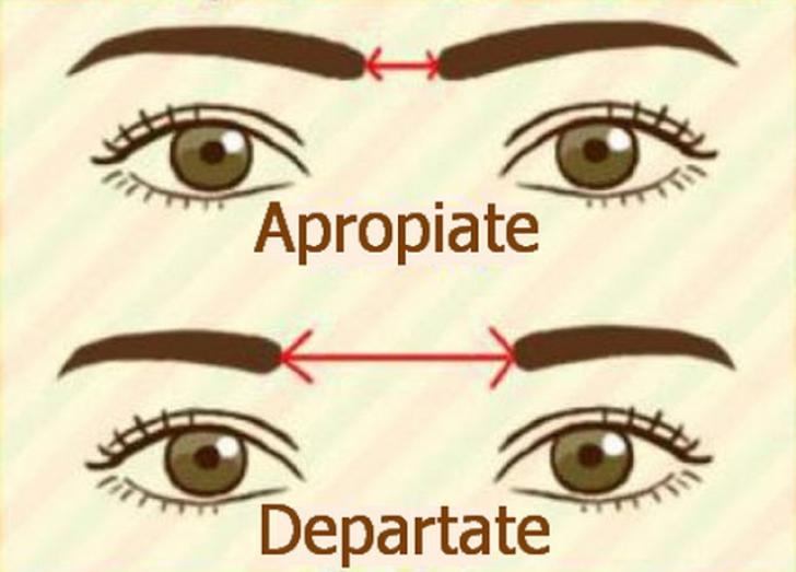 Distanţa dintre sprâncene îţi poate dezvălui tipul de personalitate