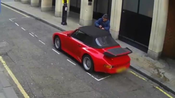 A încercat să fure două automobile Porsche în doar 20 de minute. Cum s-a sfârşit planul său