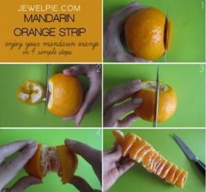 Cea mai uşoară metodă de a curăţa portocale şi mandarine