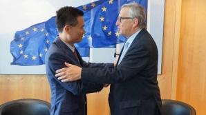 Ye Jianming, președintele CEFC, întâlnire cu președintele Comisiei Europene