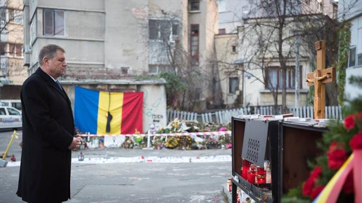 Iohannis a mers iar la locul tragediei din Colectiv: Nu vreau şi nu pot să uit ce s-a întâmplat