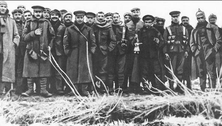 Cea mai frumoasa poveste. Armistiţiul care a dus la meciul din 25 decembrie 1914, în plin Război