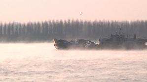 Fierbe Dunărea! Fenomenul straniu produs la Galaţi