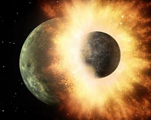 Cum a apărut Luna