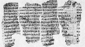 Papirus spart în 150 de bucăți