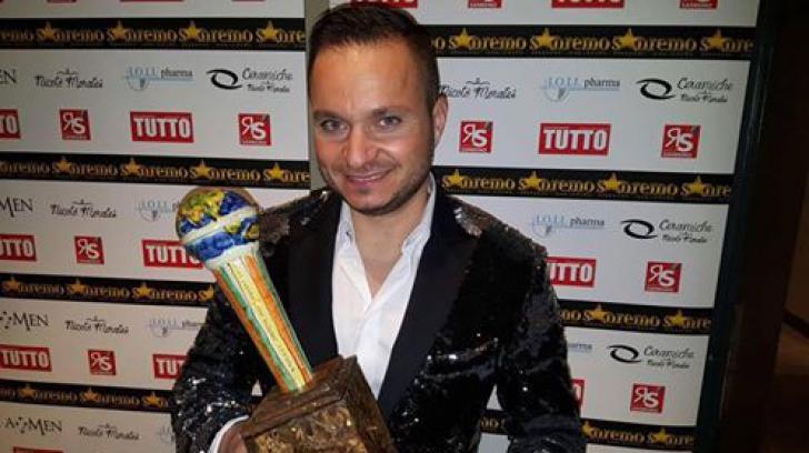 Solistul unei trupe romanesti cunoscute, trofeu la Sanremo 2016
