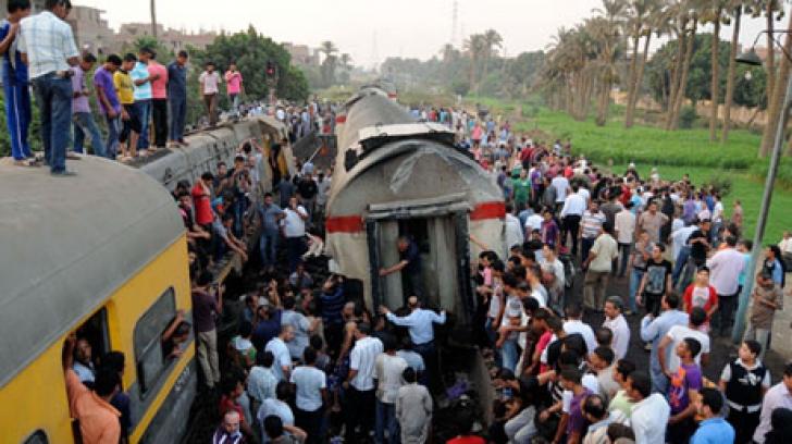 Accident feroviar în Egipt: cel puţin 70 de răniţi