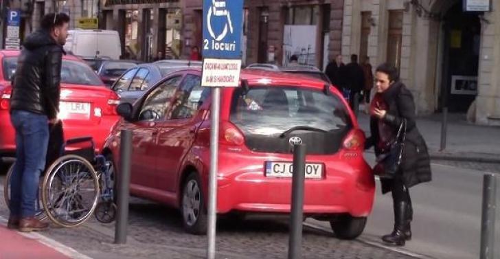 Parcari pe locuri rezervate handicapaţilor
