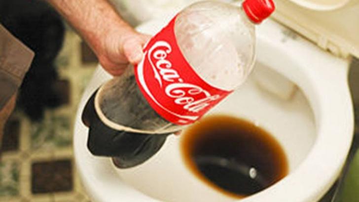 A turnat o sticla de Coca-Cola in vasul de toaleta. Ce s-a intamplat apoi e de necrezut!