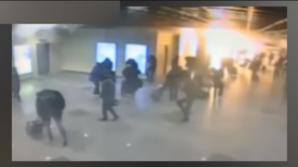 VIDEO. Atentatele din Bruxelles. Una dintre explozii, surprinsă de camerele de supraveghere