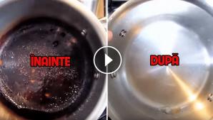 Trucul extrem de simplu prin care poți curăța o oală arsă. Va arată ca nouă!