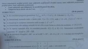 Subiecte matematică simulare BAC 2016. Ce subiecte au primit elevii de clasa a XII-a şi clasa a XI-a