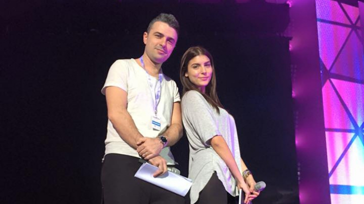 Fata lui Mădălin Voicu, prezentatoare la Eurovision. Cum arată pe scenă
