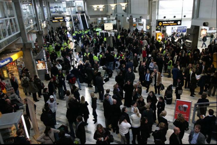 Amenințare cu bombă pe un aeroport din Suedia