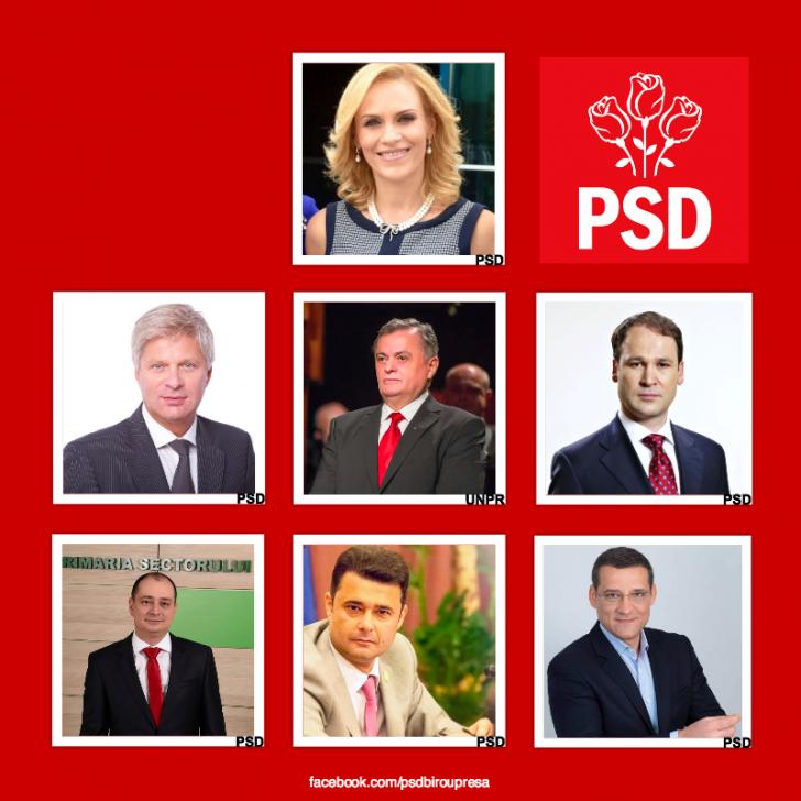 PSD a anunțat candidaţii pentru Capitală. Firea, Tudorache, Onțanu, Negoiță, Băluță, Florea și Mutu