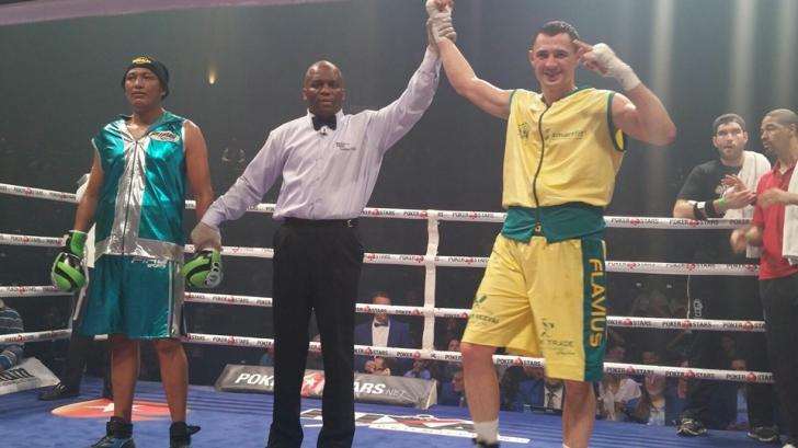 Flavius Biea a învins prin KO la gala de box de la Montreal