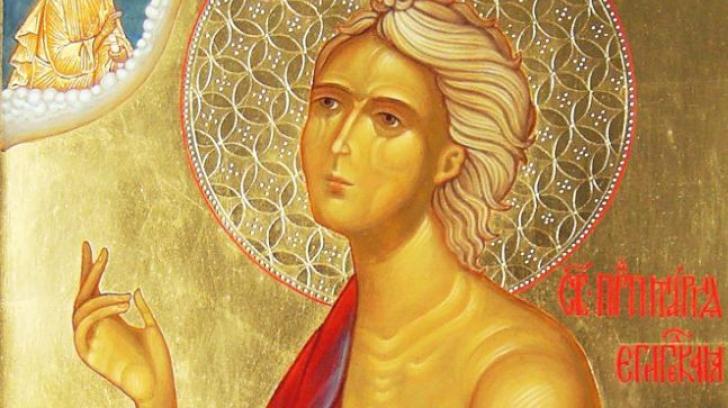 Sfânta prăznuită de creştinii ortodocşi pe 1 aprilie. A trăit 47 de ani în pustietate