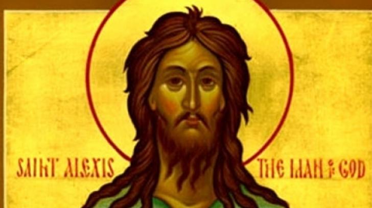 """Creştinii îl prăznuiesc joi, 17 martie, pe Sfântul Cuvios Alexie, """"omul lui Dumnezeu"""""""