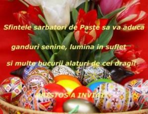 MESAJE DE PAŞTE. Cele mai frumoase mesaje şi urări de Paşte
