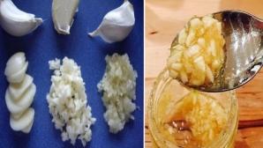 Cum se consumă CORECT usturoiul