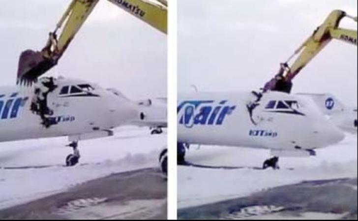 A venit cu buldozerul pe aeroport și a distrus avionul. Motivul e halucinant!