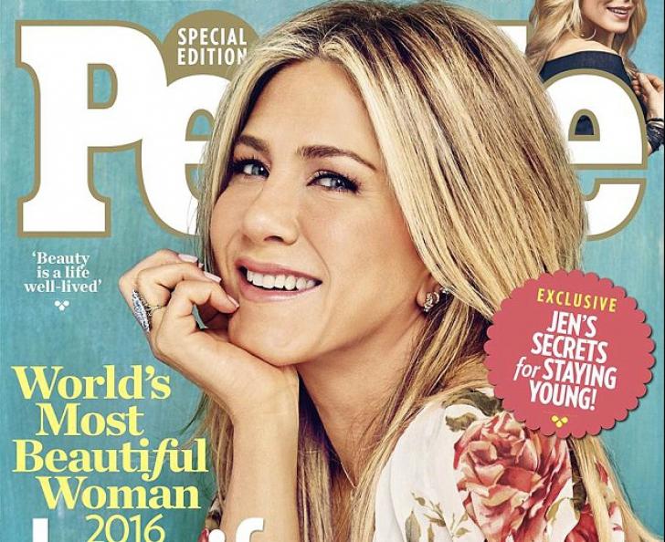 """Jennifer Aniston, desemnată """"Cea mai frumoasă femeie din lume"""" în 2016 de revista People"""