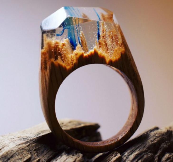 Cele mai spectaculoase bijuterii. Inele unicat, rupte din natură