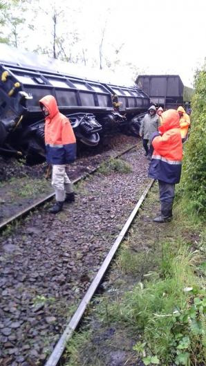 Două vagoane încărcate cu cărbune au deraiat în Mehedinţi