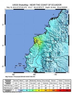 Cutremur puternic în Ecuador