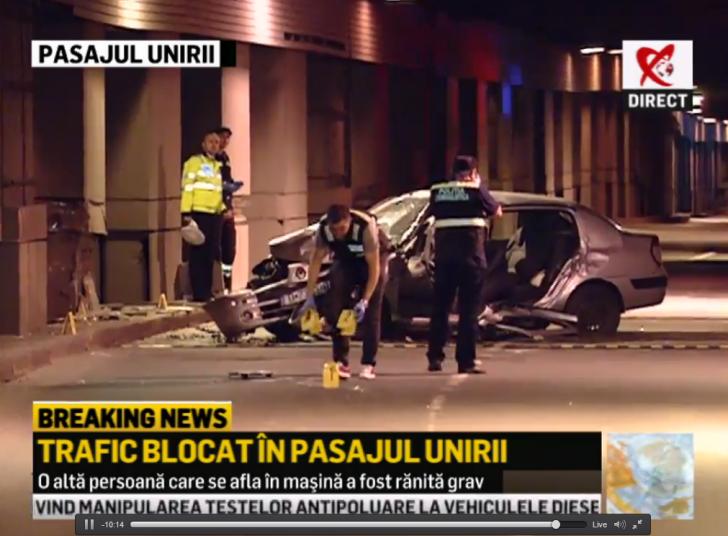Accident la Pasajul Unirii din Bucureşti. Un mort și un rănit. Traficul este oprit