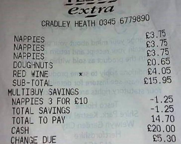 Toți au râs când au văzut acest bon de cumpărături. Ce a luat o mamă dintr-un magazin