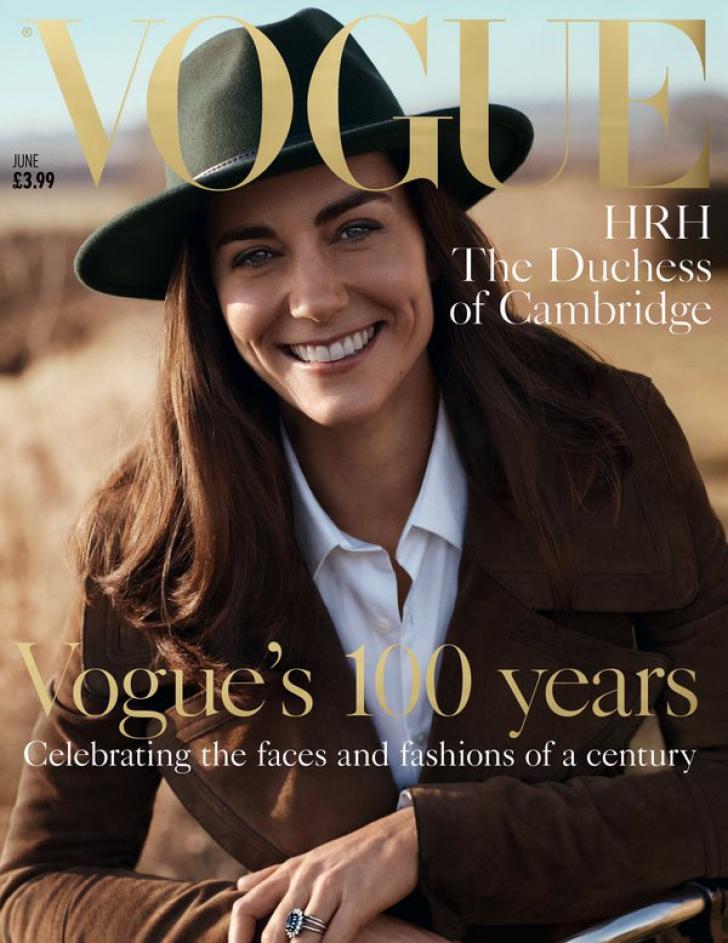 Kate Middleton, pe coperta numărului aniversar care celebrează 100 ani ai revistei VOGUE
