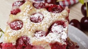 REŢETĂ. Cea mai delicioasă prăjitură cu vişine. În 30 de minute este gata