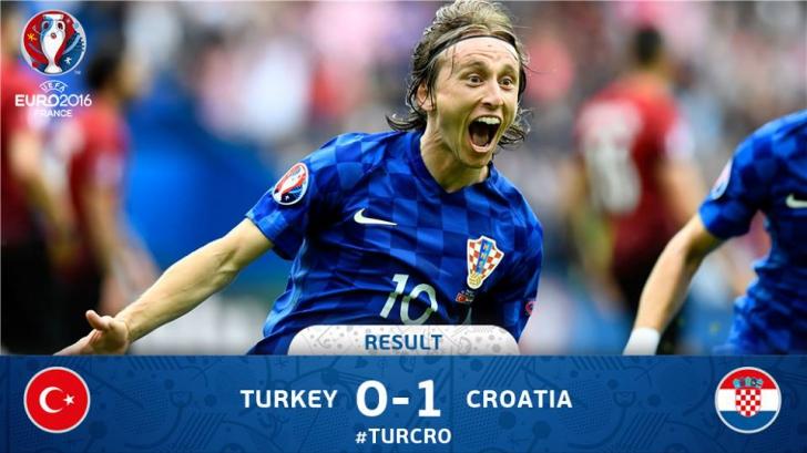 Croaţia a învins Turcia, scor 1-0, la Euro-2016