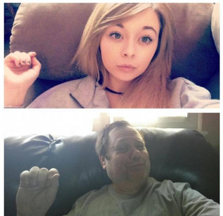 Cum a reacționat un tată care a văzut selfie-urile sexy ale fiicei sale! Fabulos!
