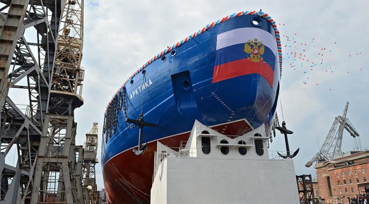 """Rusia lansează cel mai mare spărgător de gheaţă nuclear. Cum arată """"monstrul"""" marin"""