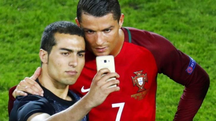 Selfie cu Ronaldo