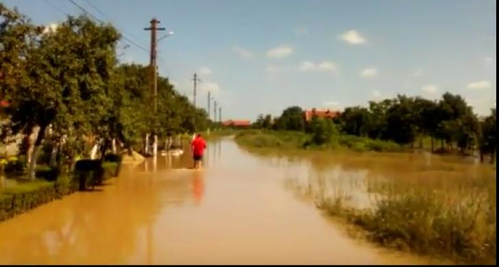 Inundațiile au făcut din nou prăpăd. Cod roșu pe râul Bârzava