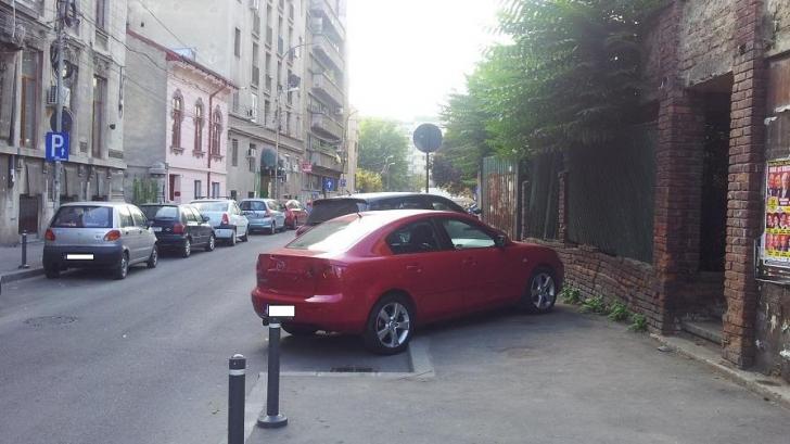 Mașinile pe trotuar, ilegale